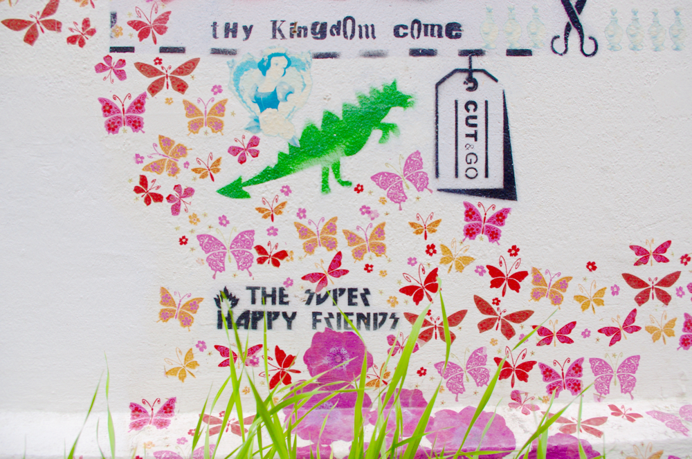 Buntes Leben in Friedrichshain, Street Art, Graffiti, Samariterkiez