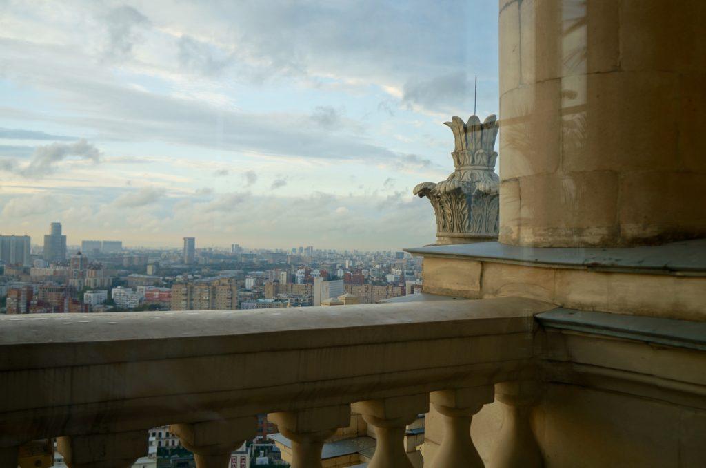 Moskau auf dem Dach des Royal Raddisson