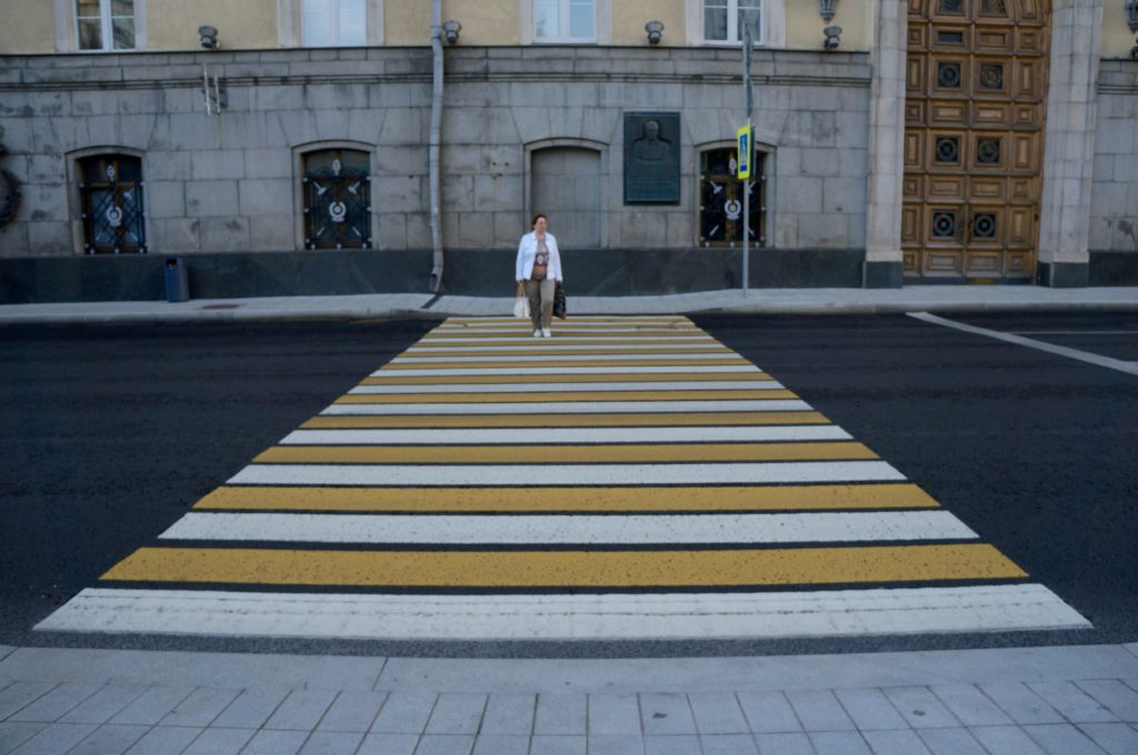 Zebrastreifen in Moskau