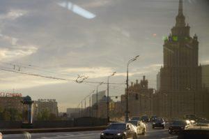 Moskau aus dem Bus