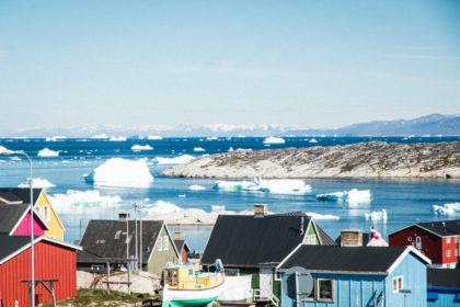 Ein Foto von Inka Cee von blickgewinkelt zeigt das gletschermeer in groenland ilulissat