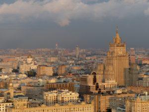 Moskau von oben aus dem Royal Raddisson Hotel