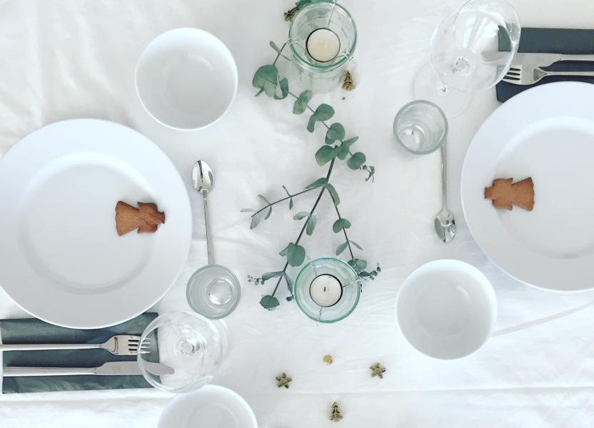 Weihnachtsessen Tischdeko
