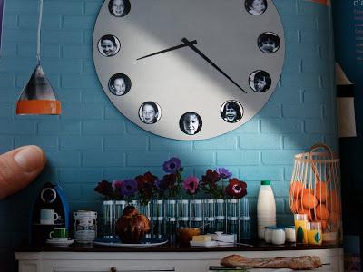 Uhr mit Fotos, DIY