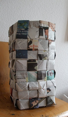 Flechtkorb, DIY, Papierkorb