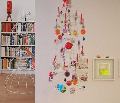 alternativer Weihnachtsbaum, Lampenschirme