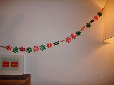 Weihnachtsgirlande, Sterne, Origami