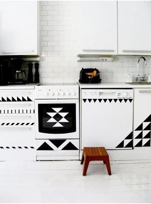 schwarz-weiß, Küche, DIY