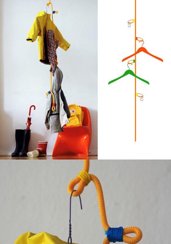 Ready-Made-Garderobe, Das Seil, das rote paket