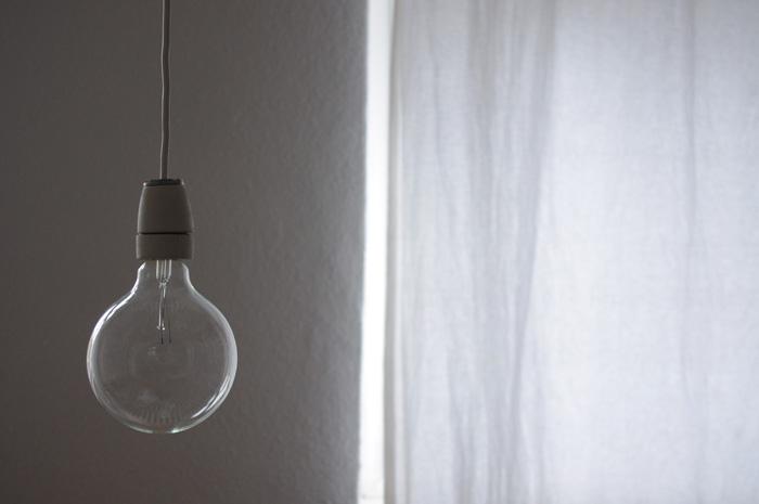 glühbirne, licht, roh