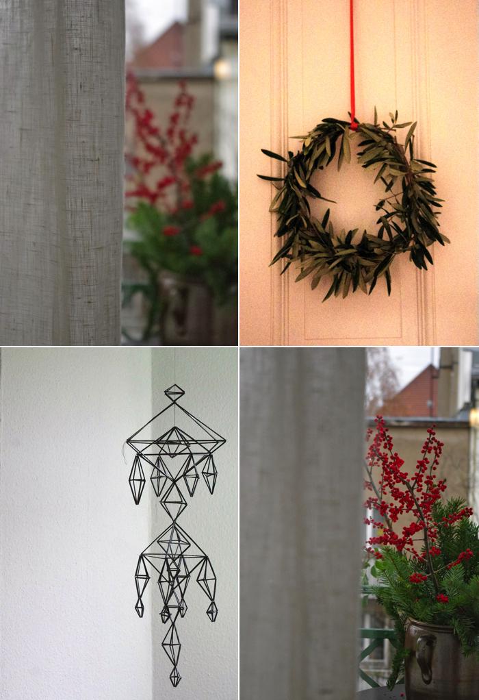 Himmeli, finnische Weihnachtsdekoration, Adventskranz, Selbermachen