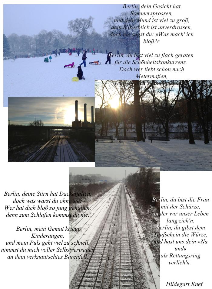 Berlin, Schnee, Ick liebe dir, du liebes Tier