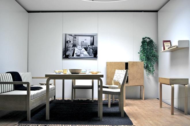Holz, Wald, Wald vor lauter Baeumen, Finnland, Artek, Alvar Aalto