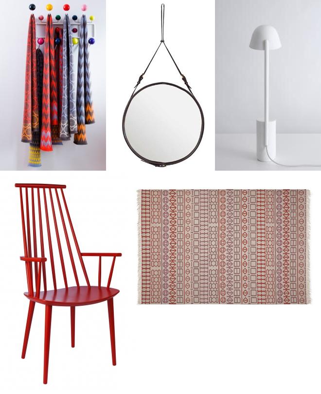 Decken, seven gauche studios, Gubi Adnet Spiegel, Lampe von Studio Bouroullec, HAY J110, Teppich Kelim