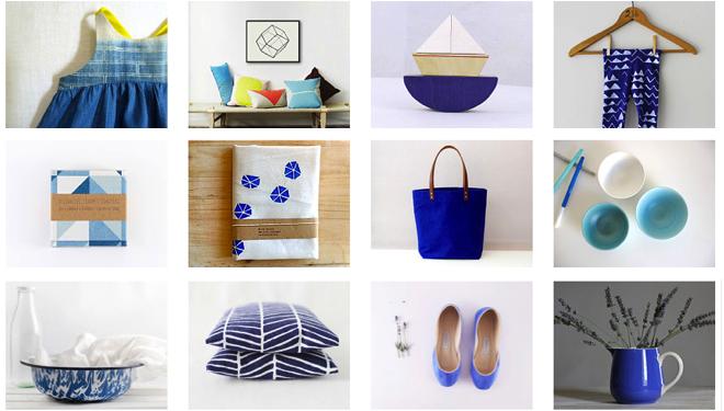 Fundstuecke, Etsy, Blau, Kissen, Schuhe, Vintage, Tasche,