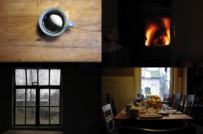 M i MA zügelt: Von Naturbegegnungen, Perfektionsansprüchen und Prioritätenverschiebungen. Oder ein Wochenende im Bauwagen. Tisch Tee Feuer Fenster Frhstück