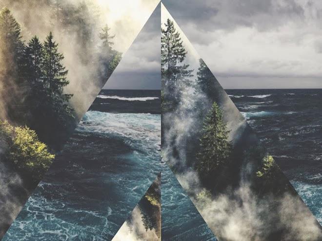 Ein Blick hinter Danane, Wald, Wasser, Danane, Dane, M i MA, Collage