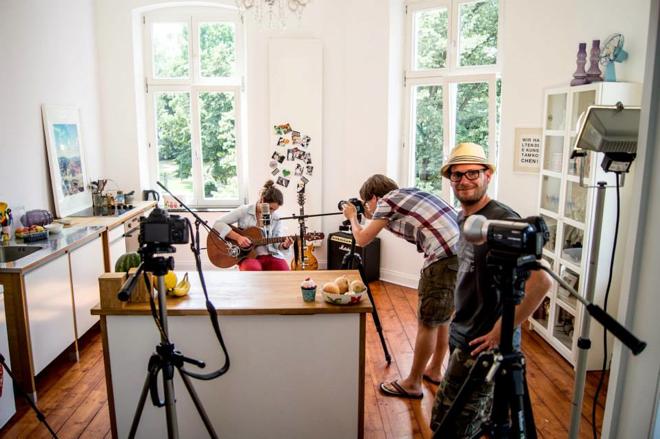 Ein Blick hinter, MG Kitchen TV, Luisa Sole, André Sole Bergers, Musik, Küche, Projekt,