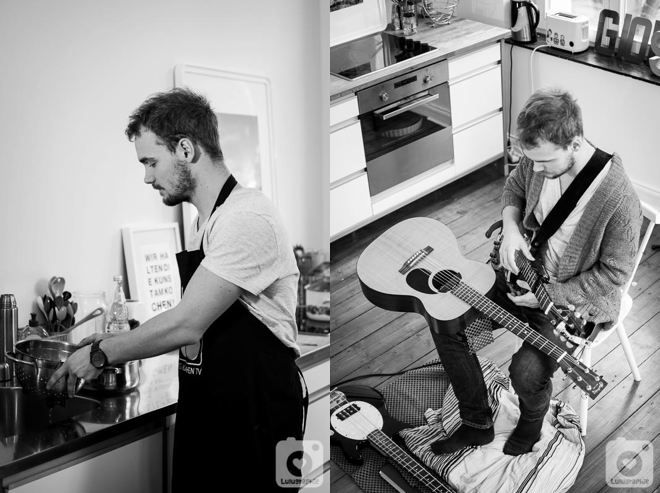 Ein Blick hinter, MG Kitchen TV, Luisa Sole, André Sole Bergers, Musik, Küche, Projekt, Lulugraphie, Pierre Pihl, Kochen, Gitarre
