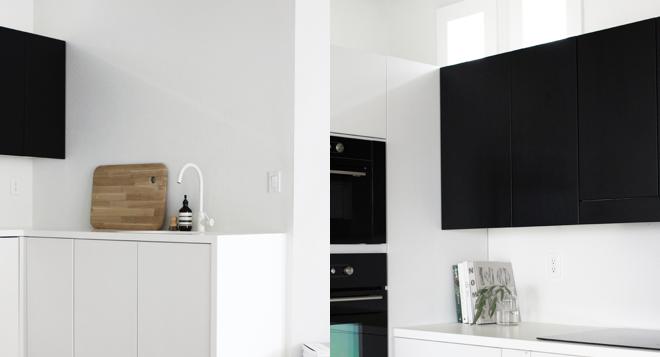 M i MA zügelt. Wohnimpressionen, Badezimmer, Dusche, Waschbecken, WC, Küche, schwarz, grau, Kücheninsel, a merry mishap. kitchen
