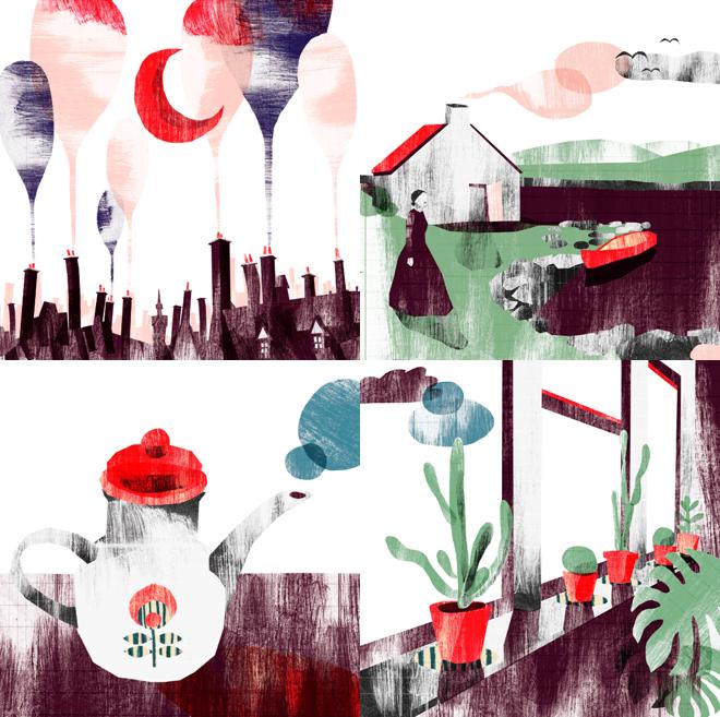 M i MA. Ein Blick hinter: wide eyed tree, Grafik, Österreich, Kreativwirtschaft, Claudia Voglhuber, Illustration