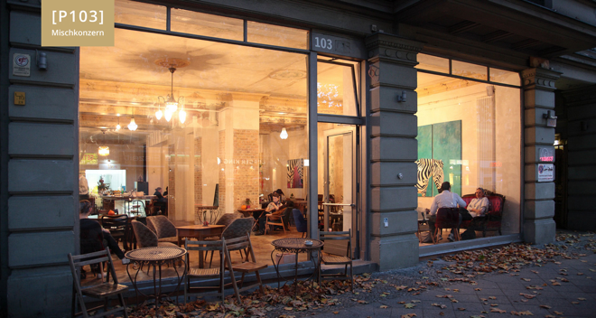 P103 Mischkonzern, Berlin, Engür Sastimdur, Café, Restaurant, Galerie, Potsdamer Straße, Jürgen Gustav Haase, Ans Netz Taxi, Schönebreg, Bülowstraße, Tiergarten