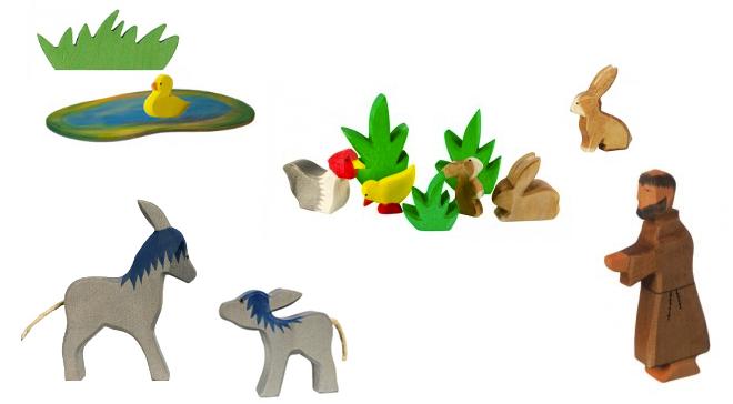 Holzspielzeug, Holzspielwaren Ackermann, M i MA, Ostern, Holztiere, Holz, Kinder