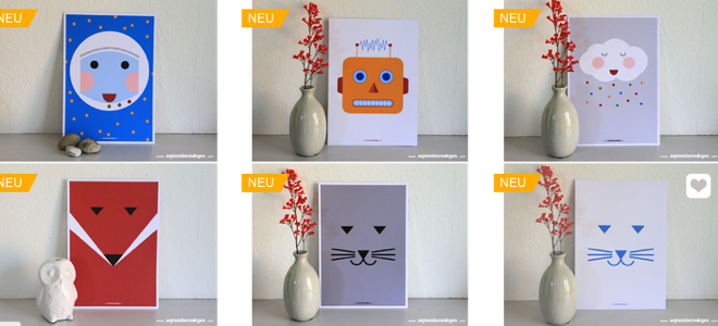 Katja Schwelker, septembermorgen, dawanda-shop, Grafikdesign, Handmade, DIY, Melannim-Teller, Jungsgeschenke, Indianer, Ritter, Roboter, Pirat, Fuchs