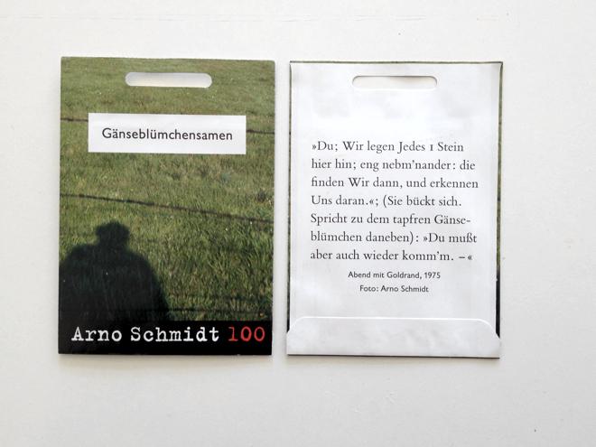 Abend mit Goldrand, Arno Schmidt, Celle, Gänseblumen