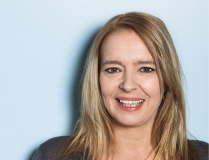Peggy Hochstaetter im Wahlkampf Berlin