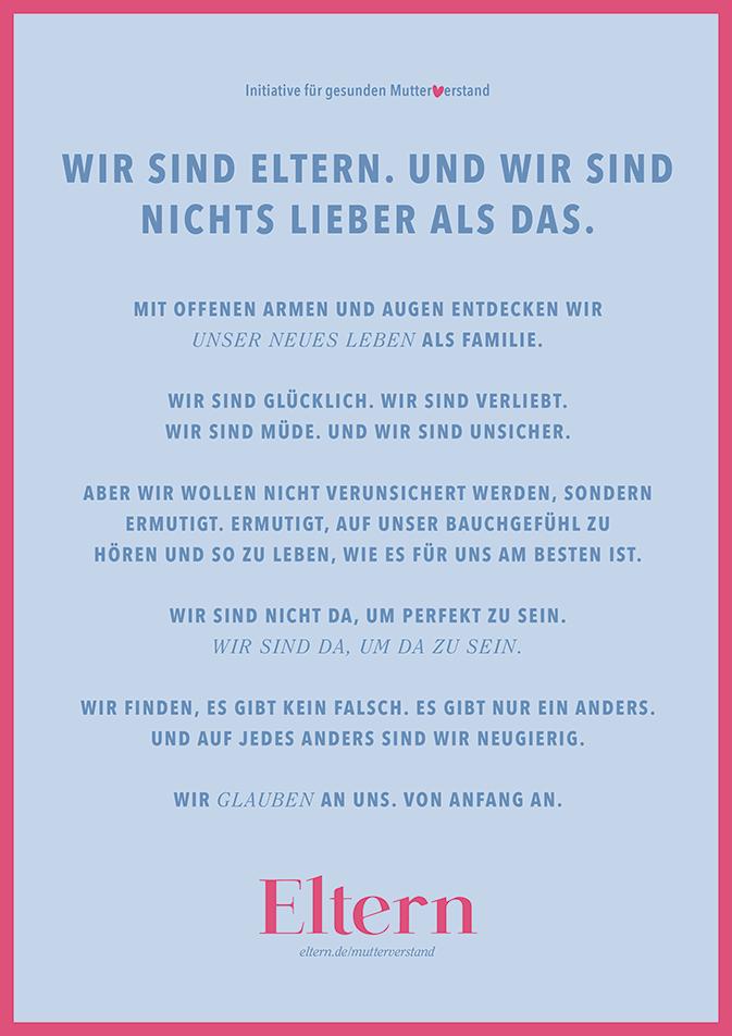 """Unser_Manifest """"Gesunder Mutterverstand"""""""