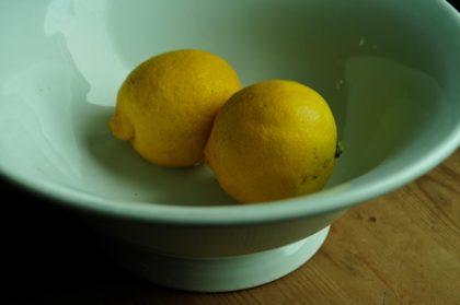 Zwei Zitronen in einer Schale fotografiert von Lando Jansone