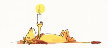 Kerzentier, liegender Löwe, Melanie Garanin