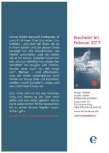 Stefan Weiller Letzte Lieder edel books