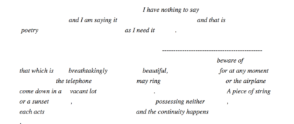 John Cage Lecture on Nothing